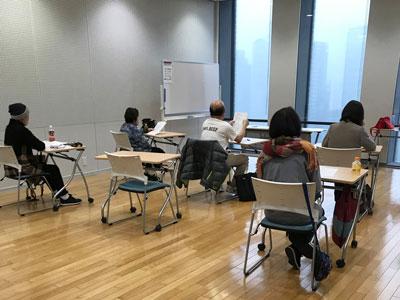 朝日カルチャーセンター中之島教室でのレッスン風景
